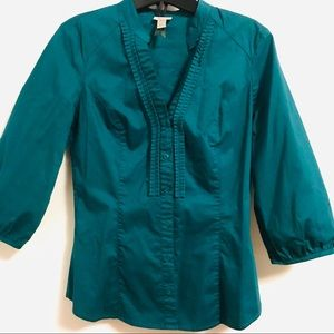 Tops - Teal Blouse Size S NEW